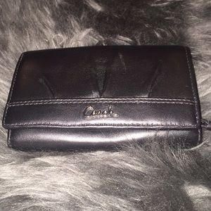 NWOT Coach Ashley leather compact wallet in Black